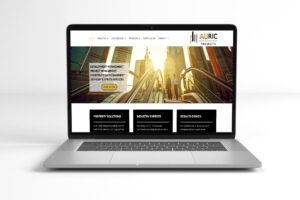 Auric Project Website Screen